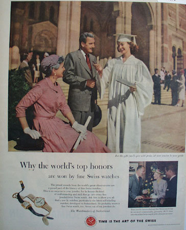 Watchmakers of Switzerland 1953 Ad