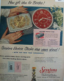 Sesions Electric Clock 1953 Ad