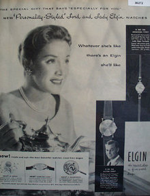 Elgin Lady Elgin Twilight Watch 1957 Ad