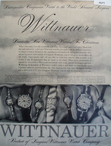 Wittnauer Watches For Christmas 1957 Ad