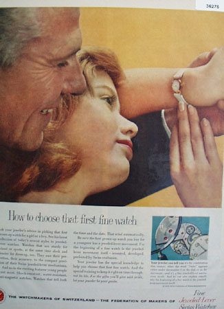 Watchmakers of Switzerland 1958 Ad