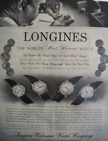 Longines Wittnauer Watch Co. 1958 Ad