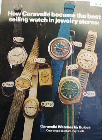 Bulova Caravelle Watch 1972 Ad