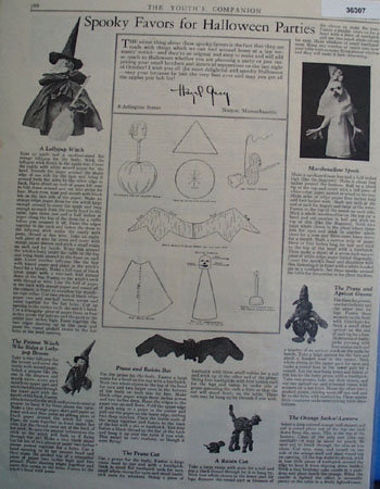 Spooky Favors for Halloween Parties 1926 Ad