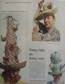 Funny Hats on Funny Men 1957 Pictures