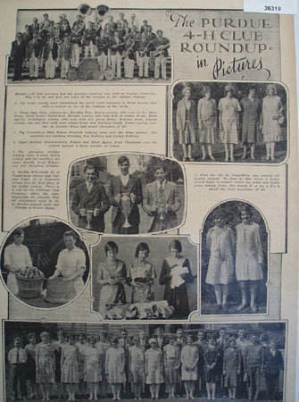 Purdue 4-H Club Roundup In Pictures 1930