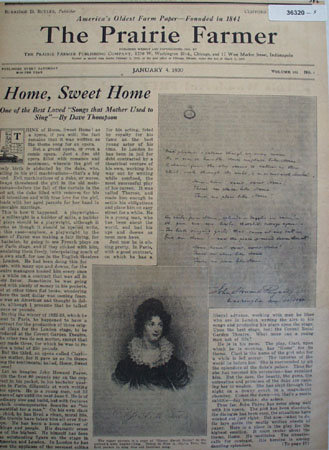 Prairie Farmer Home, Sweet Home 1930 Article