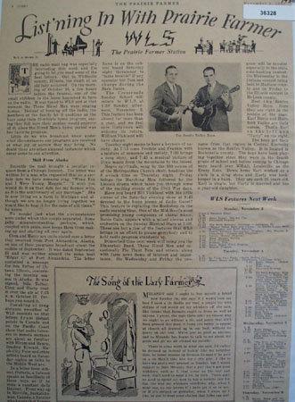 Prairie Farmer Radio Station WLS 1930 Article