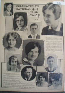 Delegates to National 4-H Club Camp 1930 Pictures