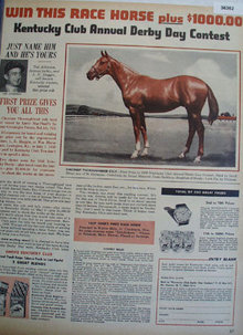 Kentucky Club Prize Colt 1956 Ad