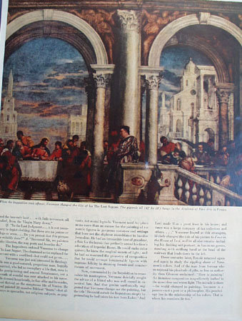 Veronese The Story Behind The Painting 1956 Article