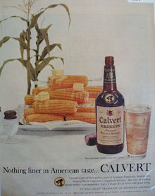 Calvert Reserve American Blended Whiskey 1956 Ad