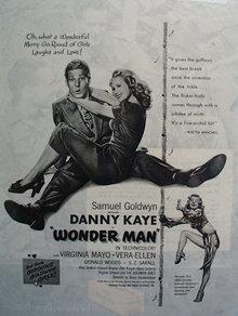 Wonder Man Movie Ad 1945