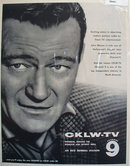 OKLW TV and John Wayne Ad  1961