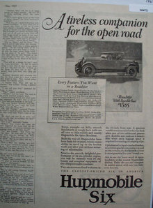 Humpmobile Six 1927 Ad
