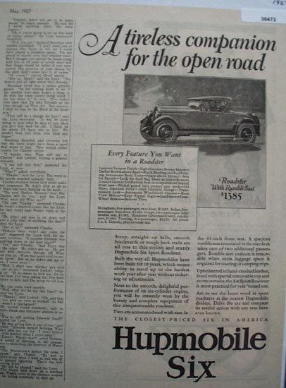 Humpmobile Six 1927 Ad