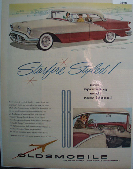 Oldsmobile Starfire Styled 1956 Ad