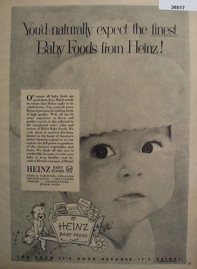 Heinz baby Food 1953 Ad