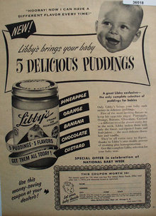 Libbys 5 Delicious Puddings 1953 Ad