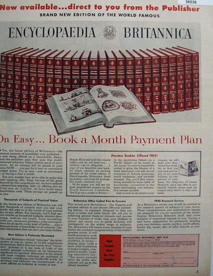 Encyclopaedia Britannica 1957 Ad