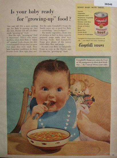 Campbells Vegetable Soup 1953 Ad