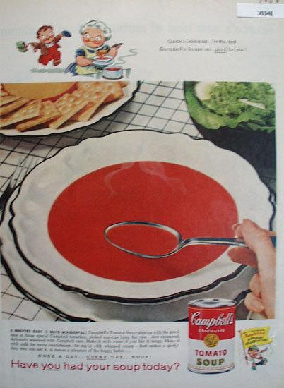 Campbells Tomato Soup 1958 Ad