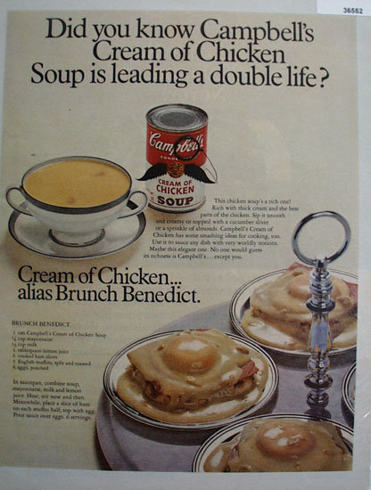 Campbells Cream Of Chicken Soup 1969 Ad