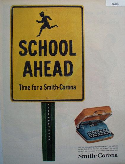 Smith Corona Typewriter 1957 Ad
