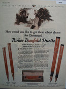 The Parker Pen Co. 1925 Ad