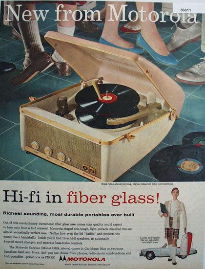 Motorola Hi-Fi Record Player 1957 Ad