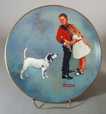 Norman Rockwell Collector Plate Courageous Hero