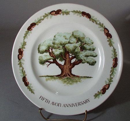 Avon Fifth Anniversary Plate