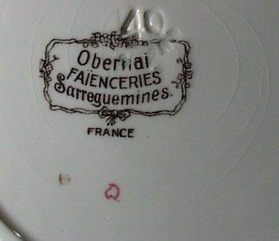 H. Loux. Obernai Faienceries Sarreguemines, France Plate