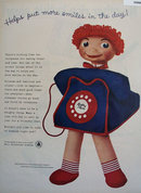 Bell Telephone System Dolly Phone 1957 Ad