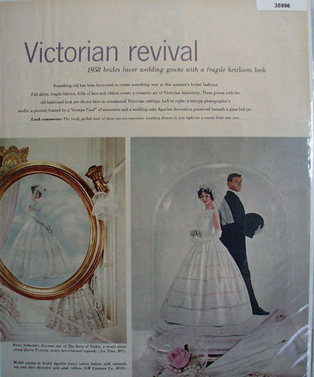Wedding Gowns Victorian Revival 1958 Ad