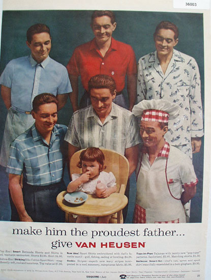 Van Heusen Proud Father Clothes 1957 Ad