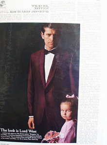 Lord West Dinner Jacket Gergamo 1965 Ad