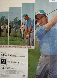 Munsingwear Bobby Nichols 1965 Ad