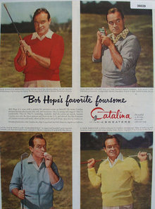 Catalina Sweaters Bob Hope 1954 Ad