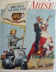 League Of Honest Coffee Lovers 1959 Ad
