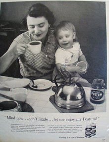 Instant Postum Coffee 1957 Ad