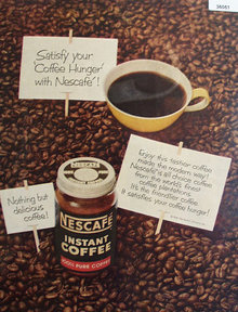 Nescafe Instant Coffee 1956 Ad