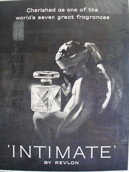Revlon Parfum Intimate 1961 Ad