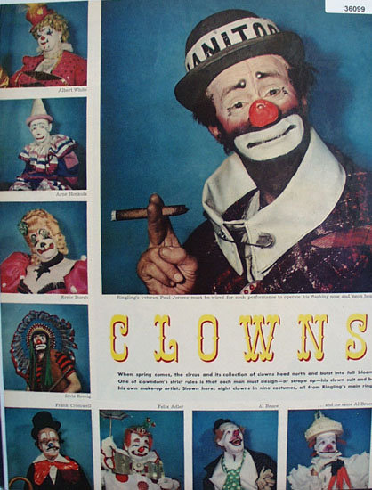 Clowns in Full Color 1953 Article