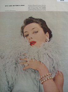 Rita Gam Buttons and Boas 1956 Picture Article