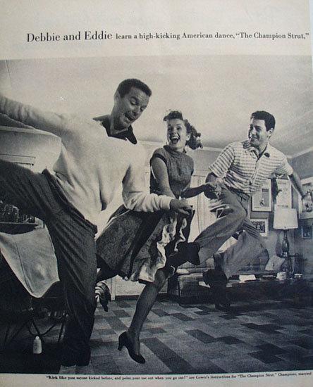 Debbie Reynolds And Eddie Fisher 1955 Article