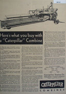 Caterpillar Combines 1930 Ad