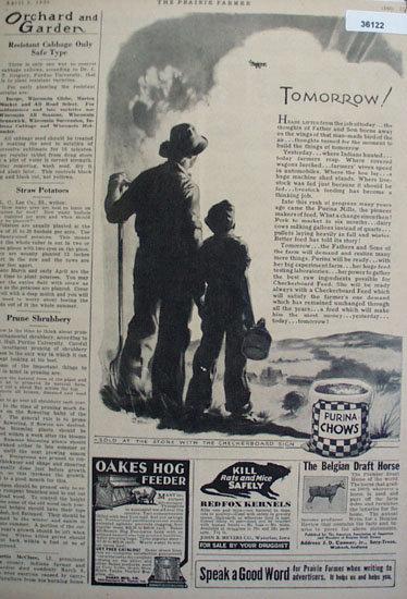 Prairie Farmer Purina Chow 1930 ads