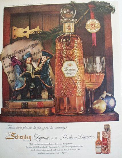 Schenley Reserve Whiskey 1958 Ad