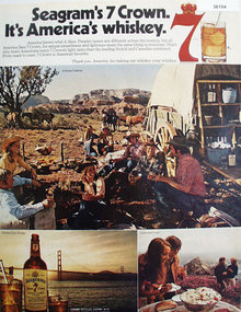 Segrams 7 Crown Whiskey 1972 Ad